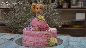 Bánh Sinh Nhật Trang Trí Búp Bê Cực Dễ Thương - Decorate nice barbie doll  Cake - YouTube