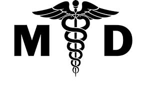Amazon Com Md Medical Doctor Vinyl Decal Sticker Bumper Car Truck Window 20 Wide Matte Black Color Home Kitchen