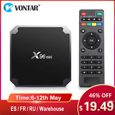 REMOTE KD 18.0 CANADA USA FREE TV Android 7.1 Smart TV Box x96 Mini WiFi