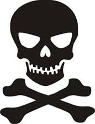 Skull N Crossbones Jolly Roger Car Truck Vinyl Decal Window Sticker Pv111 Skull Stencil Skull Sticker Skull