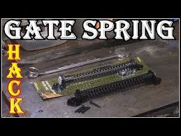 Gate Return Spring Installation Hack Youtube