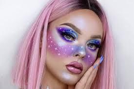 21 galaxy makeup looks creative