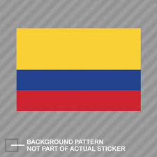 Colombian Flag Sticker Decal Vinyl Colombia Col Co