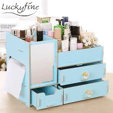cosmetic storage box diy fixed wooden