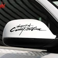1 Pcs 20cm The Spirit Of Competition Car Rearview Mirror Decal Sticker Car Exterior Accessories Decoration Vinyl Sticker Car Exterior Accessories Decal Stickervinyl Stickers Aliexpress