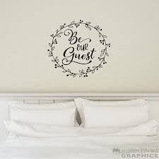 Be Our Guest Wall Decal Laurel Graphic Farmhouse Decor Etsy Wall Stickers Bedroom Wall Decals Farmhouse Decor