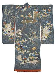 Long-Sleeved Kimono, Japan, Edo period (1603–1868). Embroidered silk. The  Sam and Myrna Myers Collection. Photo by Thierry Ollivier. | Spring, Thierry