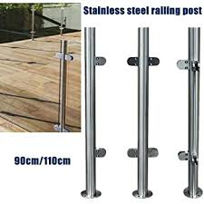 Glass Railing Post Glass Balustrade Railing Post Stainless Steel Railing Fence Pole Handrail Garden Fencing 110cm 43 End Post Amazon Com