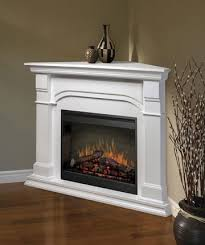 ventless gas fireplace corner white