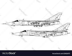 Sukhoi Su 24 Fencer Royalty Free Vector Image Vectorstock