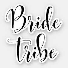 Elegant Bride Tribe Sticker Zazzle Com
