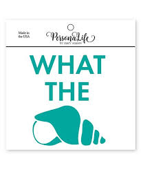 Mary Square Teal What The Shell Decal Best Price And Reviews Zulily