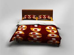 modern duvet covers retro bed