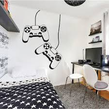 Gamer Ps4 Controller Wall Decal Personalized Vinyl Wall Sticker For Kids Room Playroom House Decor Removable Wallpaper S131 Wall Stickers Aliexpress