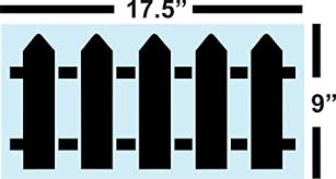 Amazon Com Picket Fence Stencil For Painting Wood Signs Reusable Sturdy