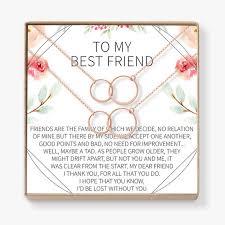best friend necklace bff necklace best friend gift jewelry