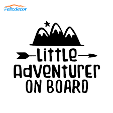 18 15cm Little Adventurer On Board Decal Art Car Window Sticker Kids On Board Decals Quotes Cars Stickers Removable Vinyl L913 Car Stickers Aliexpress