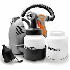 Terratek Paint Sprayer 650w Diy Electric Spray Gun With 3 Spray Patterns 2 X 800ml Paint Cups Hvlp Hand Held Spray Gun System Fence Sprayer On Onbuy