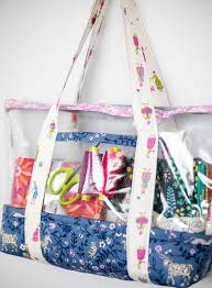 Sew A See Through Bag Free Fabric And Vinyl Tote Sewing Pattern Sewcanshe Free Sewing Patterns And Tutorials