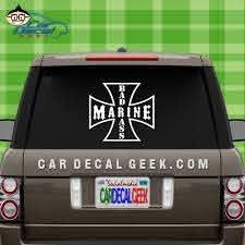 Bad Ass Marine Vinyl Car Window Decal Sticker Military Decals