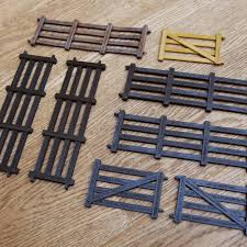 3d printer templates farm fence for toy