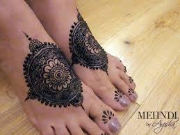 New Foot Tikki Mehndi Design