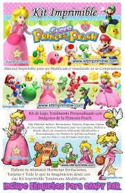 Kit Imprimible Princesa Peach Candy Bar Fiesta Kit Imprimible