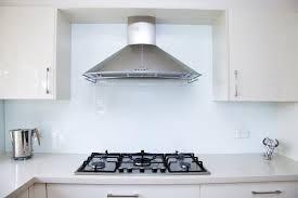 glass splashback modern kitchen