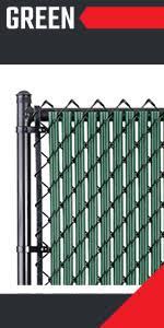 Amazon Com Chain Link W Shape Bottom Lock Fence Slats 6 Ft Brown Garden Outdoor