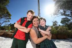 Priscilla Powell centre with her children | WestPix