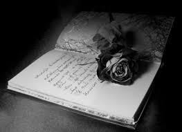gambar bunga mawar hitam dekat catatan gambar