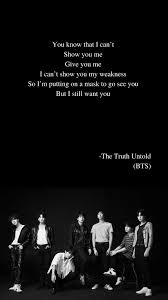 the truth untold by bts lyrics bts lyric bts lyrics