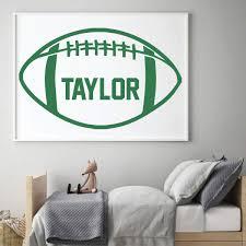 Football Personalized Wall Decal For Vinyl Decor Wall Decal Customvinyldecor Com