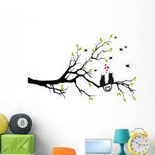 Cats Love Tree Branch Wall Decal Wallmonkeys Com