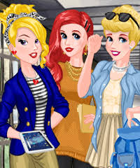 princess back to college dress up game