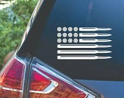 American Flag Ammo Bullet 2nd Amendment Gun Truck Car Decal Sticker Ebay