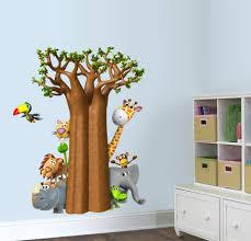 Zoomie Kids Jungle Family Behind Tree Wall Decal Wayfair