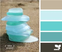 sea hues sea glass colors room