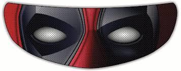 Deadpool Motorcycle Helmet Shield Sticker