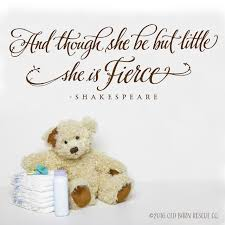 Though She Be But Little Little Girl Wall Decals Hand Lettered