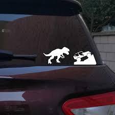 Car Sticker For Jeep T Rex Tyrannosaurus Rex Decals Dinosaur Vinyl Sticker For Jeep Car Window Laptop Decoration Wall Stickers Aliexpress