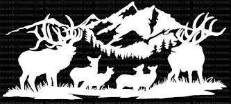 Alpine Affair Great Buglin Bulls With Cows Calfs Elk Hunting Window Decal