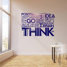 Vinyl Wall Decal Think Positive Thinking Idea Words Office Room Space Wallstickers4you