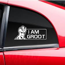 2020 I Am Groot Guardians Of The Galaxy Marvel Window Body Vignette Stickers Monster Funny Decal Vinyl Stickers 19x8cm From Royal120 2 49 Dhgate Com