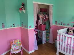 Minnie Mouse Nursery Added Wall Decals As A Border Minnie Mouse Nursery Kids Room Minnie Mouse Girl