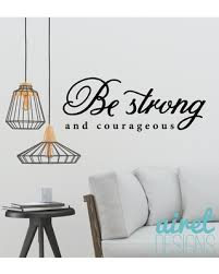 Sales For Be Strong Courageous Vinyl Decal Motivation Office Inspirational Wall Decor Sticker Sign V2