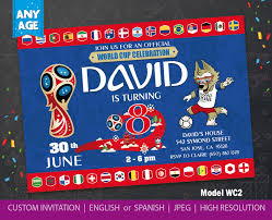 World Cup 2018 Invitation World Cup 2018 Party Fifa World