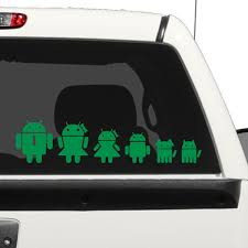 Android Family Car Decal The Decal Guru