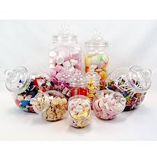 pc candy table kit plastic candy jars