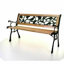 wooden 3 seater garden bench park seat